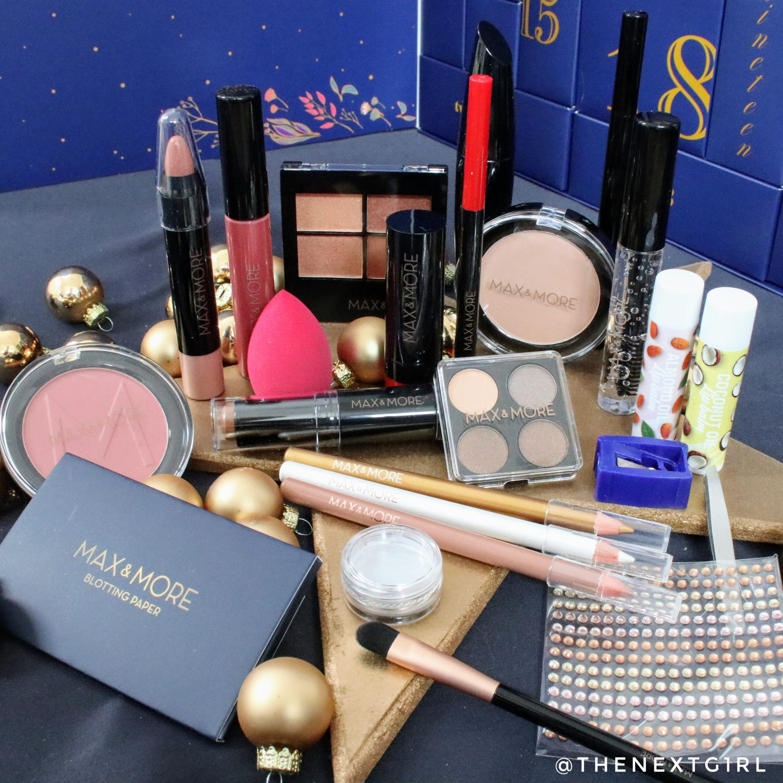 inhoud Max&More adventskalender 2020 make-up Action