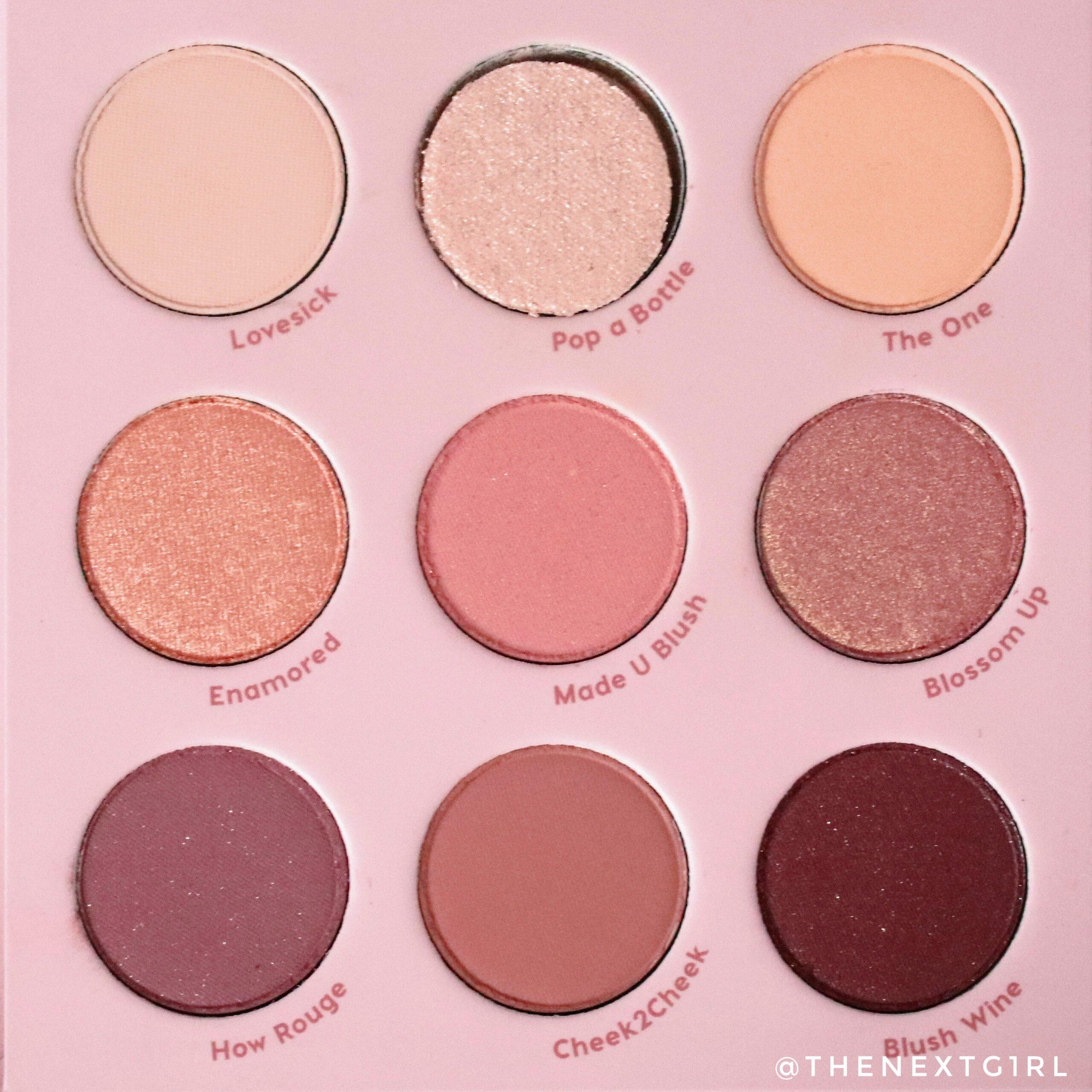 9-pans oogschaduwpalette colourpop roze tinten