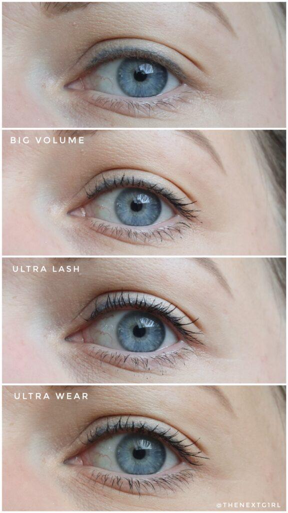 Vergelijking mascara's vooraanzicht