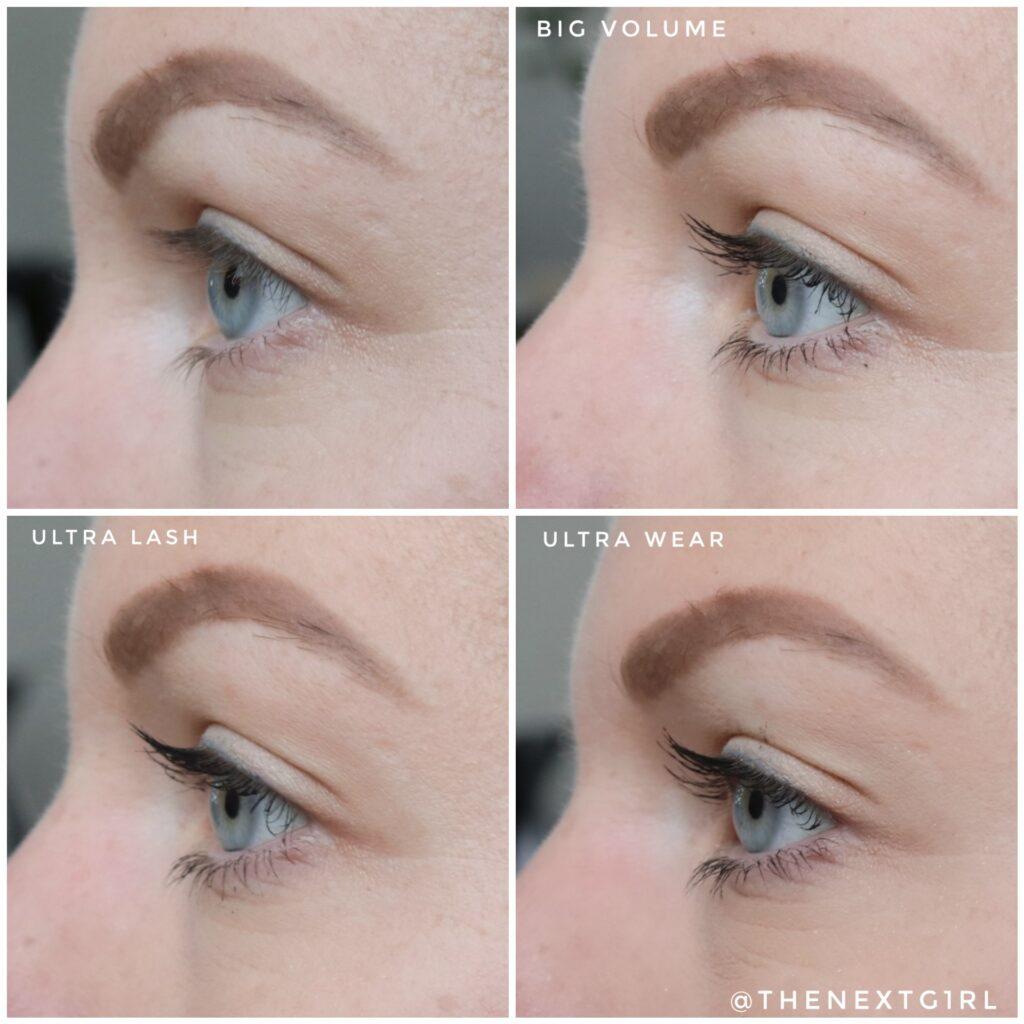 Vergelijking mascara's vanaf zijkant