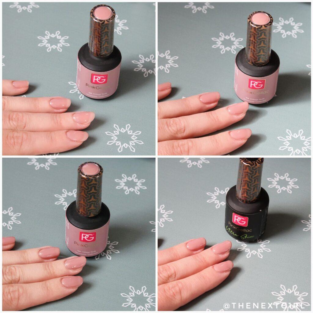 Pink Gellac Vintage Nude gelnagellak opbouwen