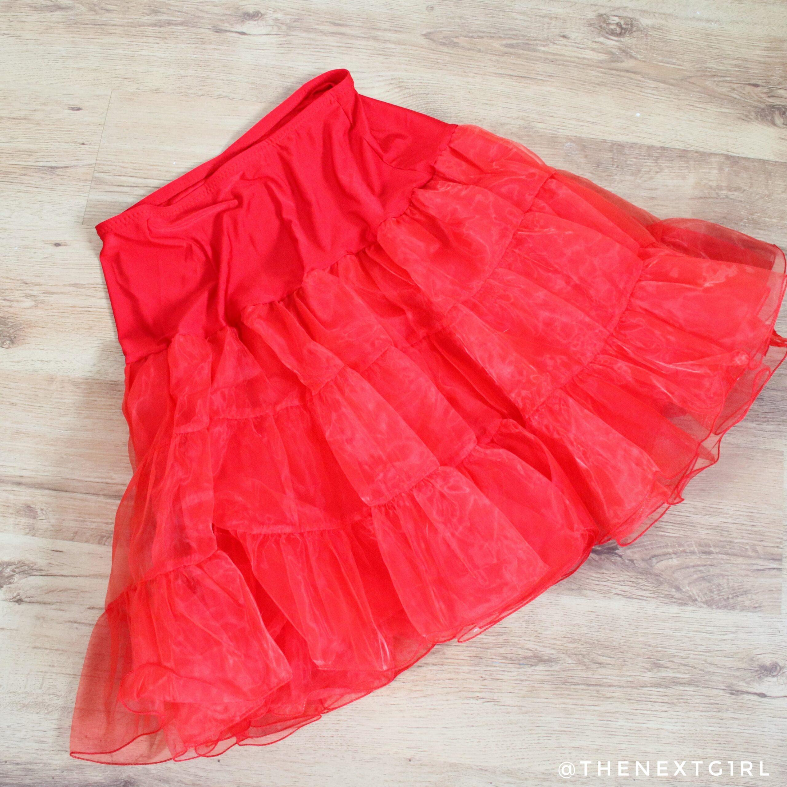 Rode petticoat onderrok