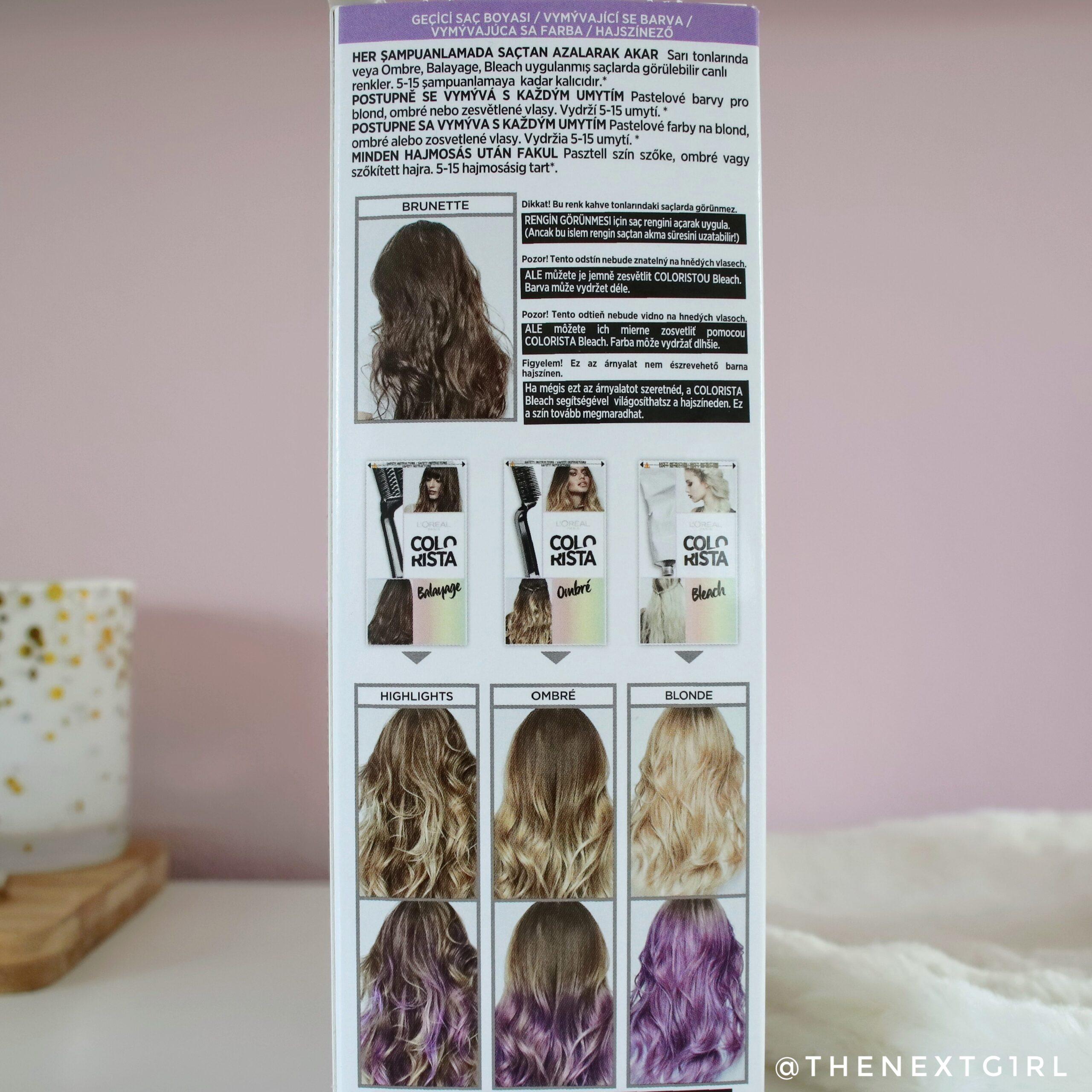 L'Oreal Colorista Washout verpakking