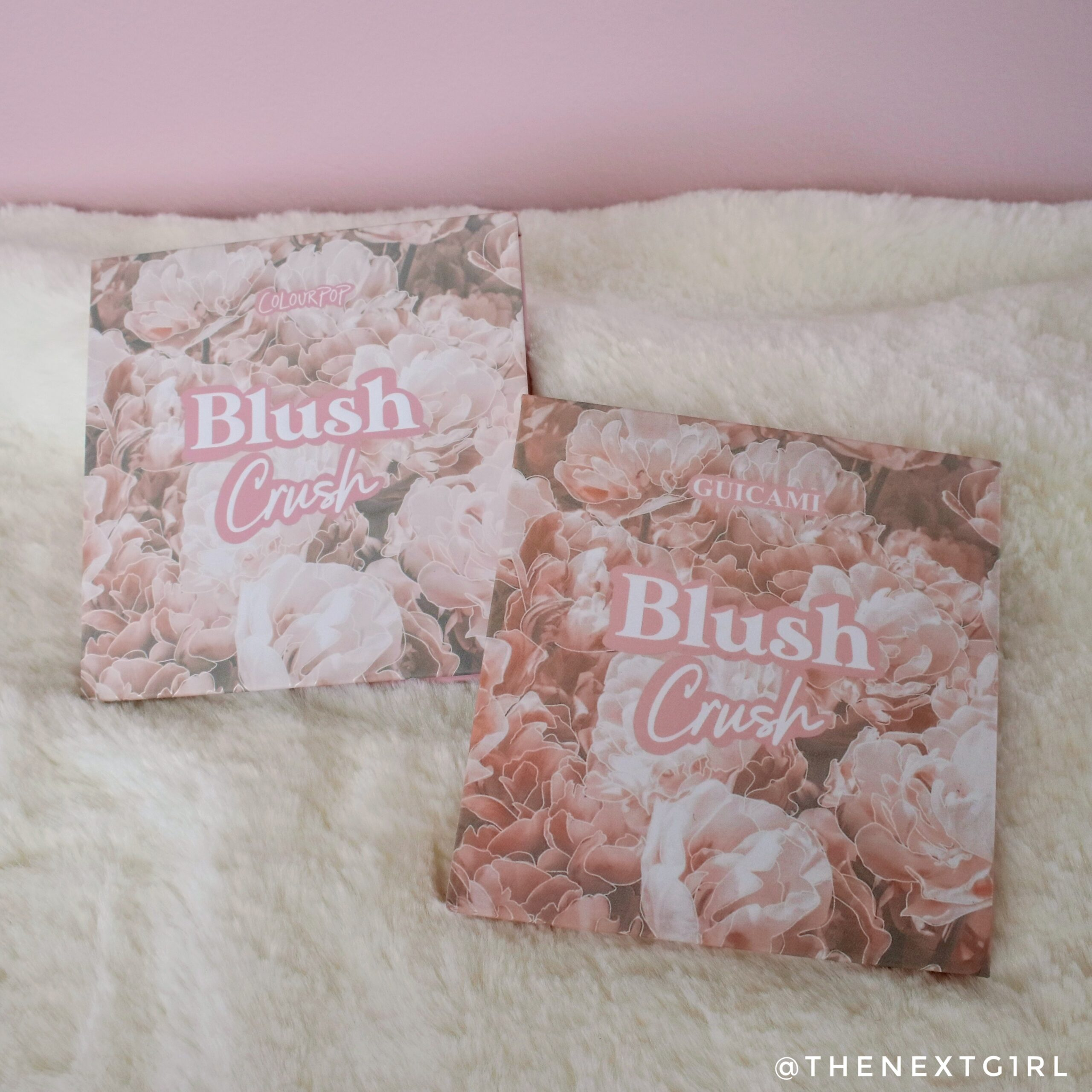 Colourpop Guicami Blush Crush palette vergelijking