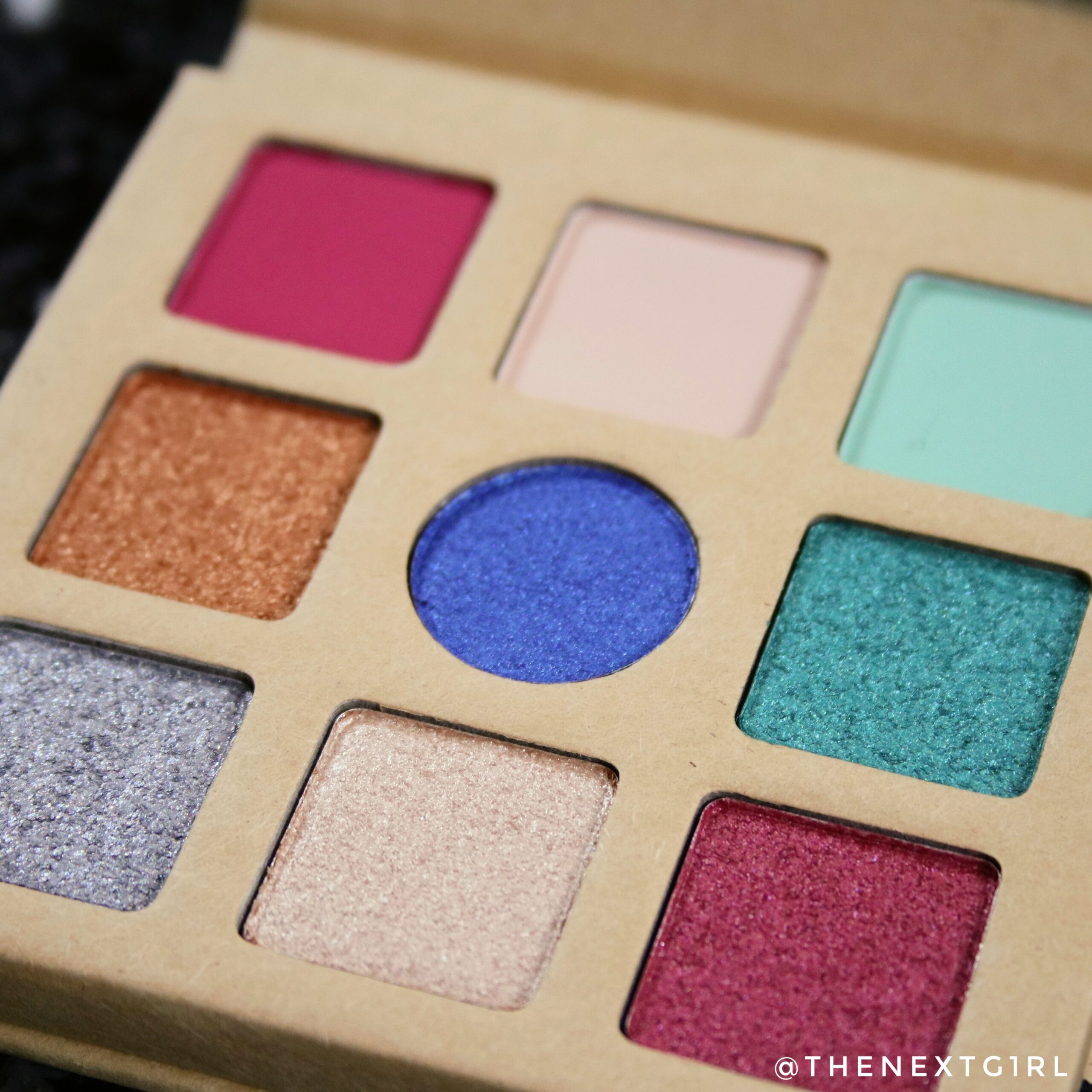 Close-up oogschaduwpalette shimmers