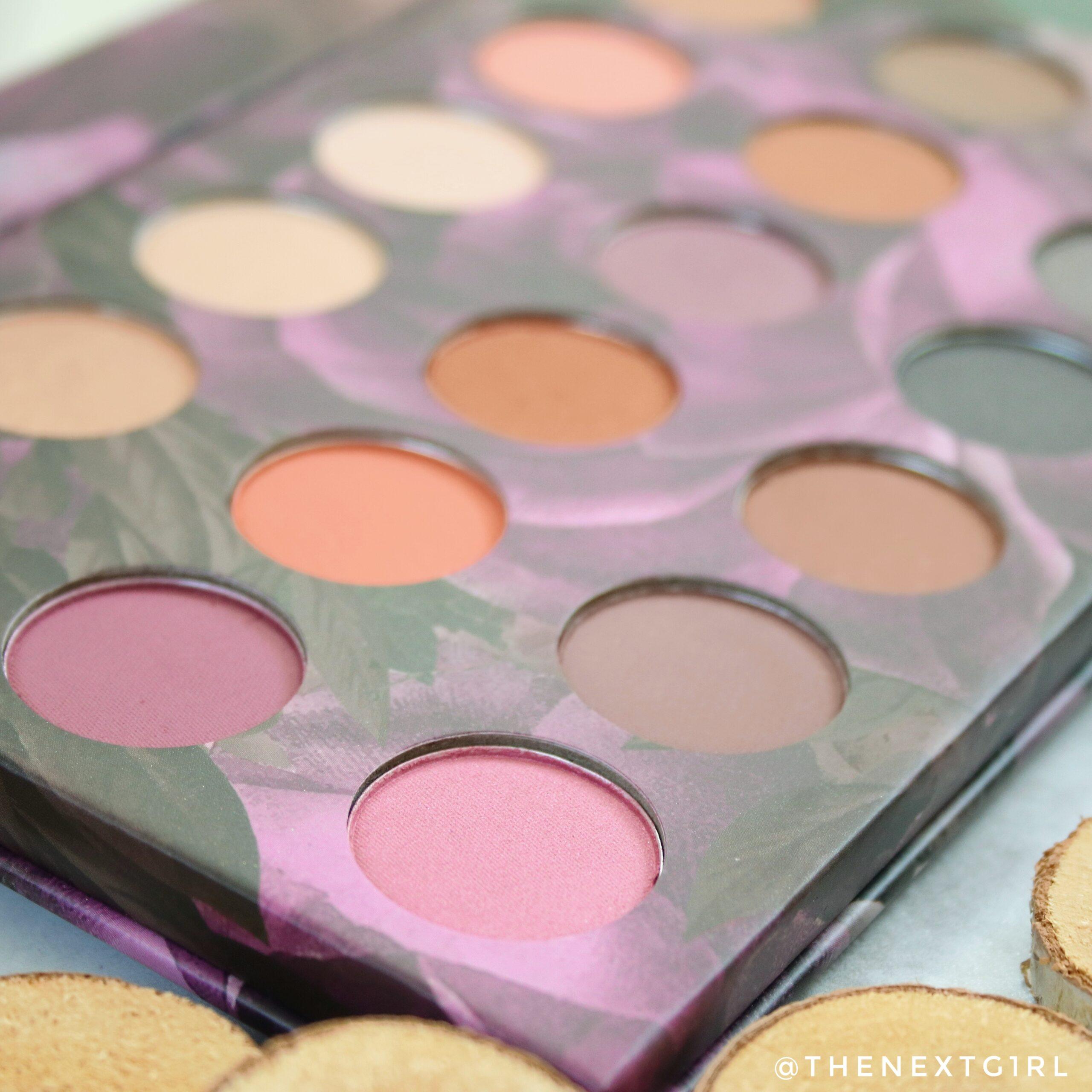Kleuren in Max & More oogschaduwpalette Bloom Close-up 1