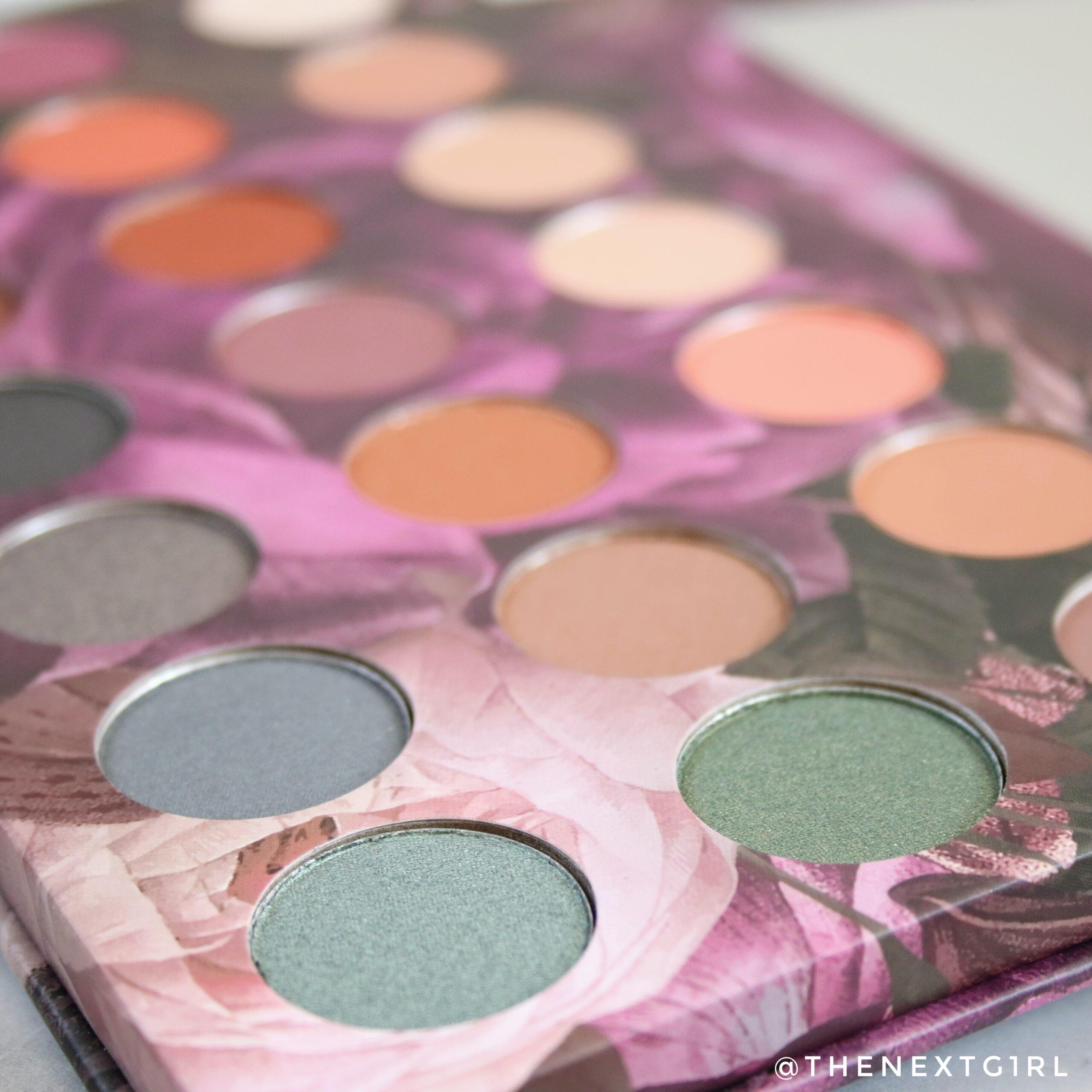Kleuren in Max & More oogschaduwpalette Bloom Close-up 2