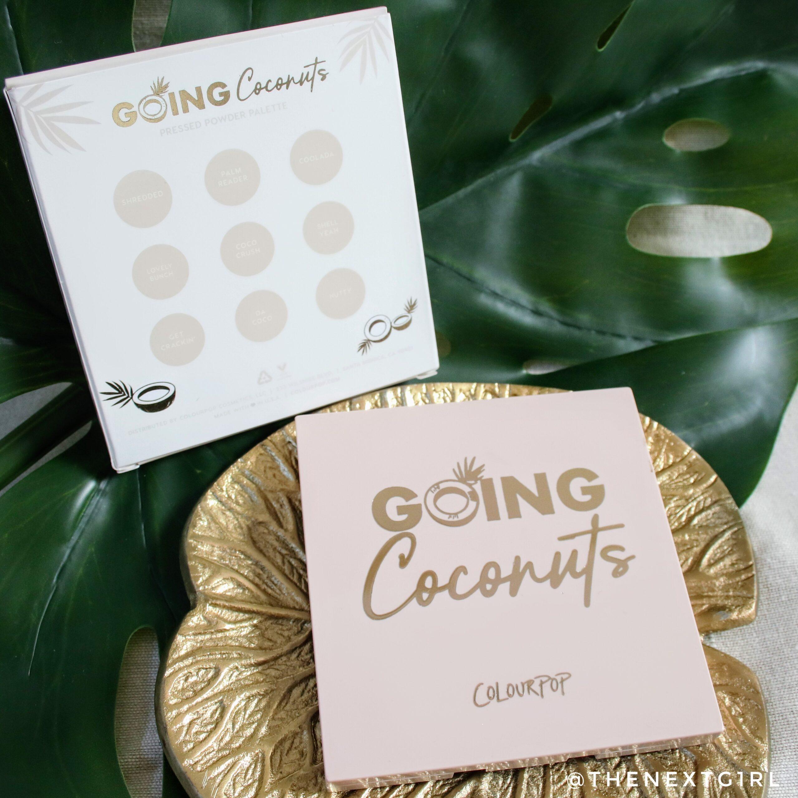 Going Coconuts oogschaduwpalette verpakking