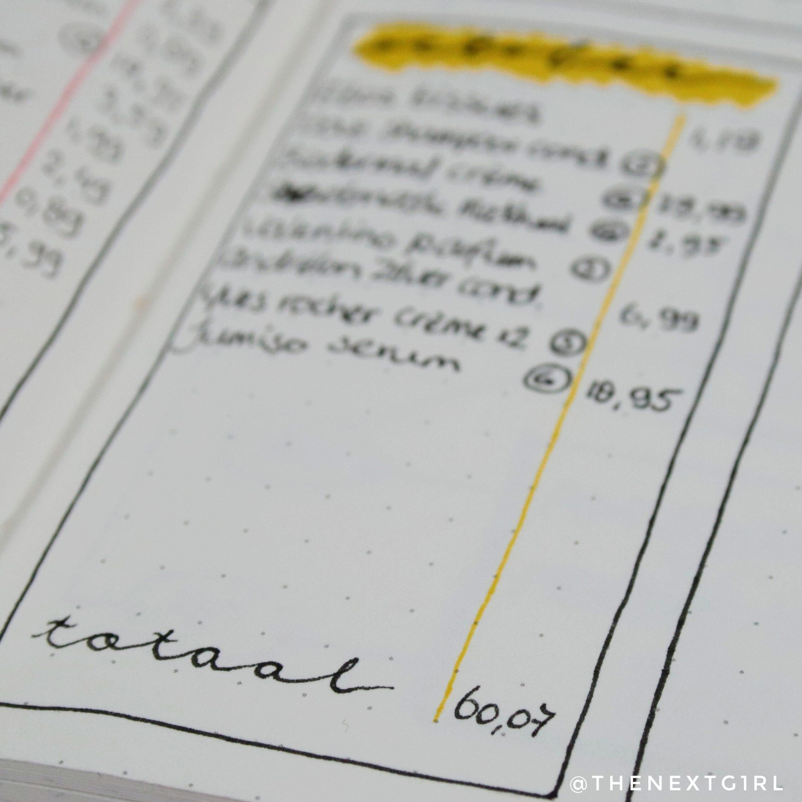 Totaal bedrag opgemaakte producten oktober