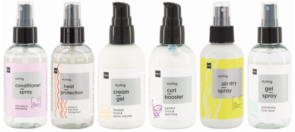 HEMA haircare sprays