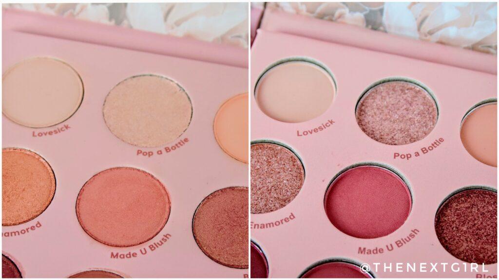 Close-up shimmer kleuren Colourpop Guicami