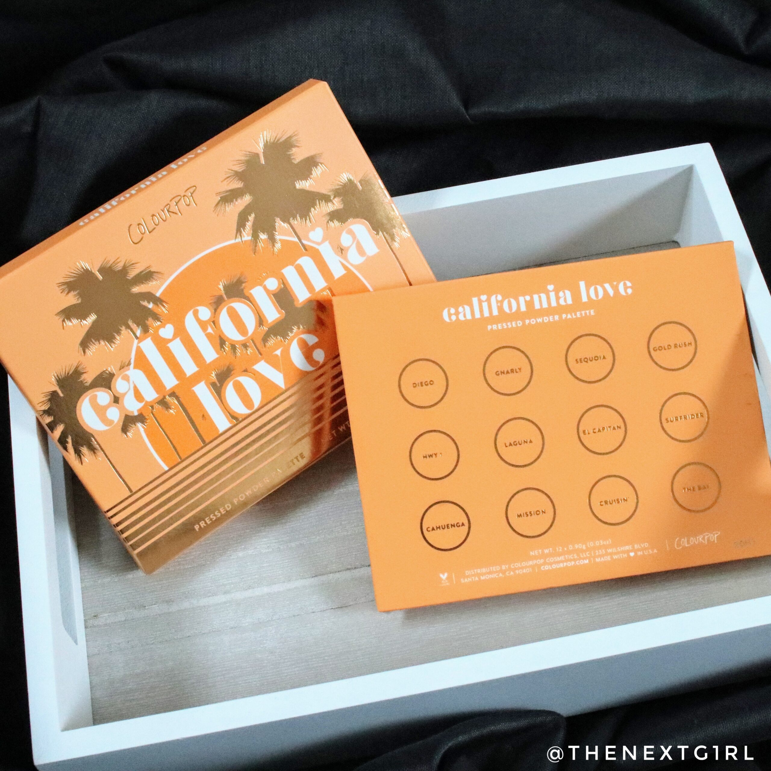 Colourpop California Love palette achterkant