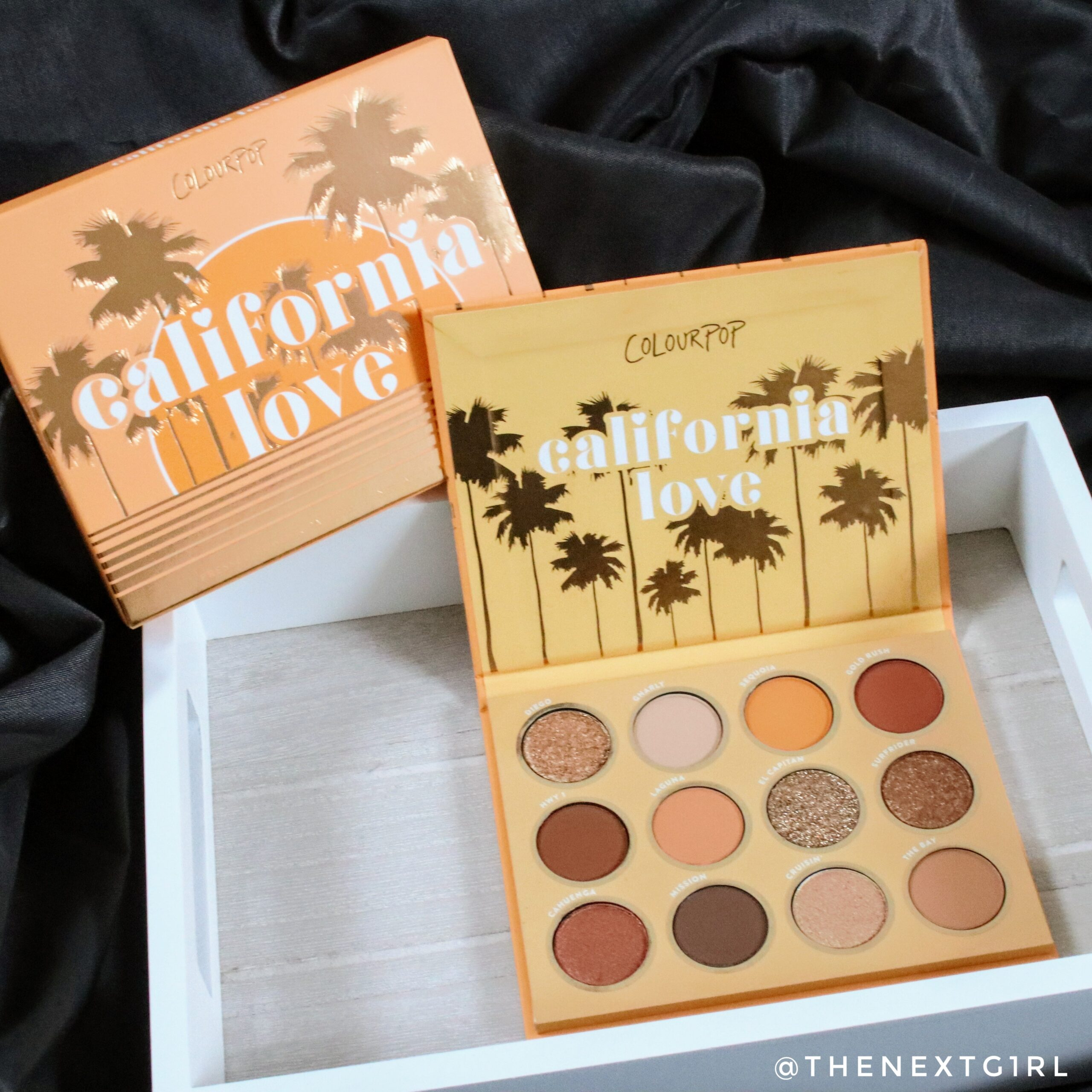 Colourpop California Love palette binnenkant