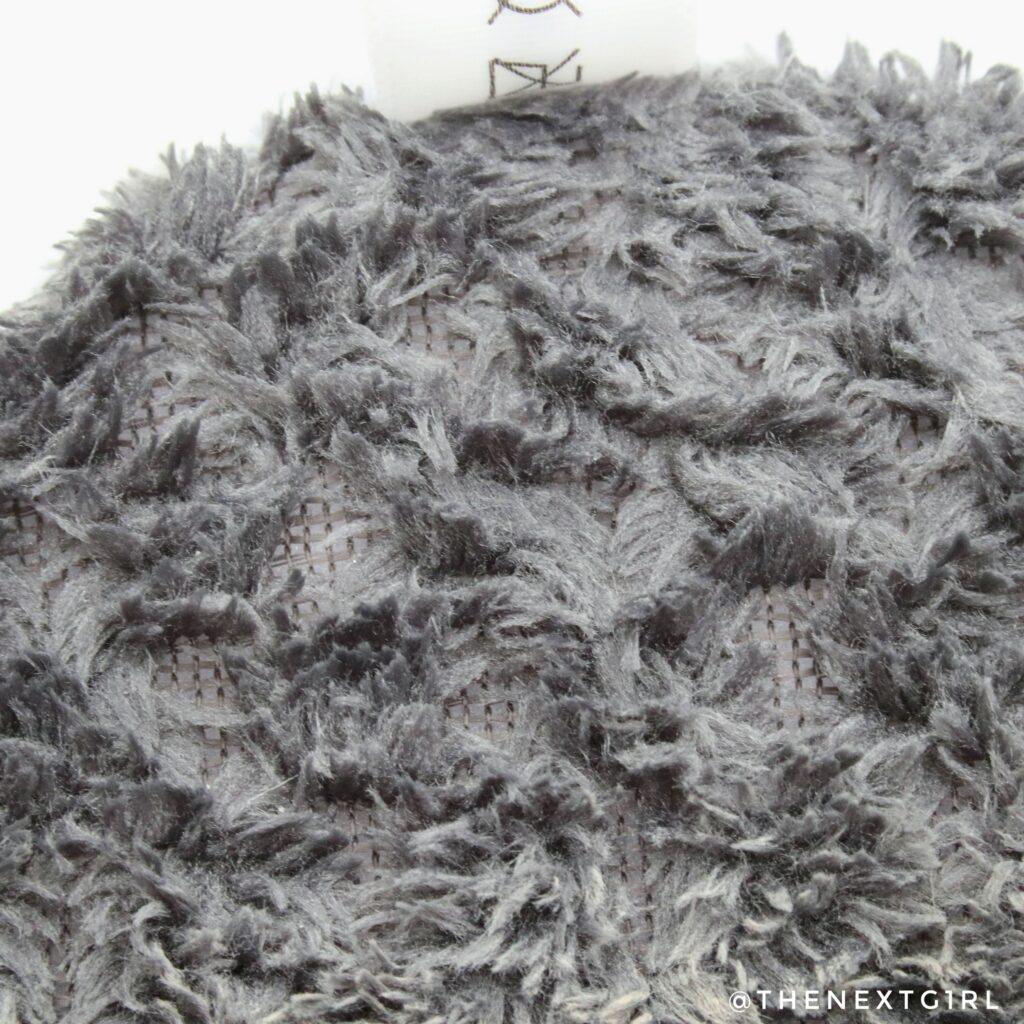 Close-up structuur natte wasbare wattenschijf