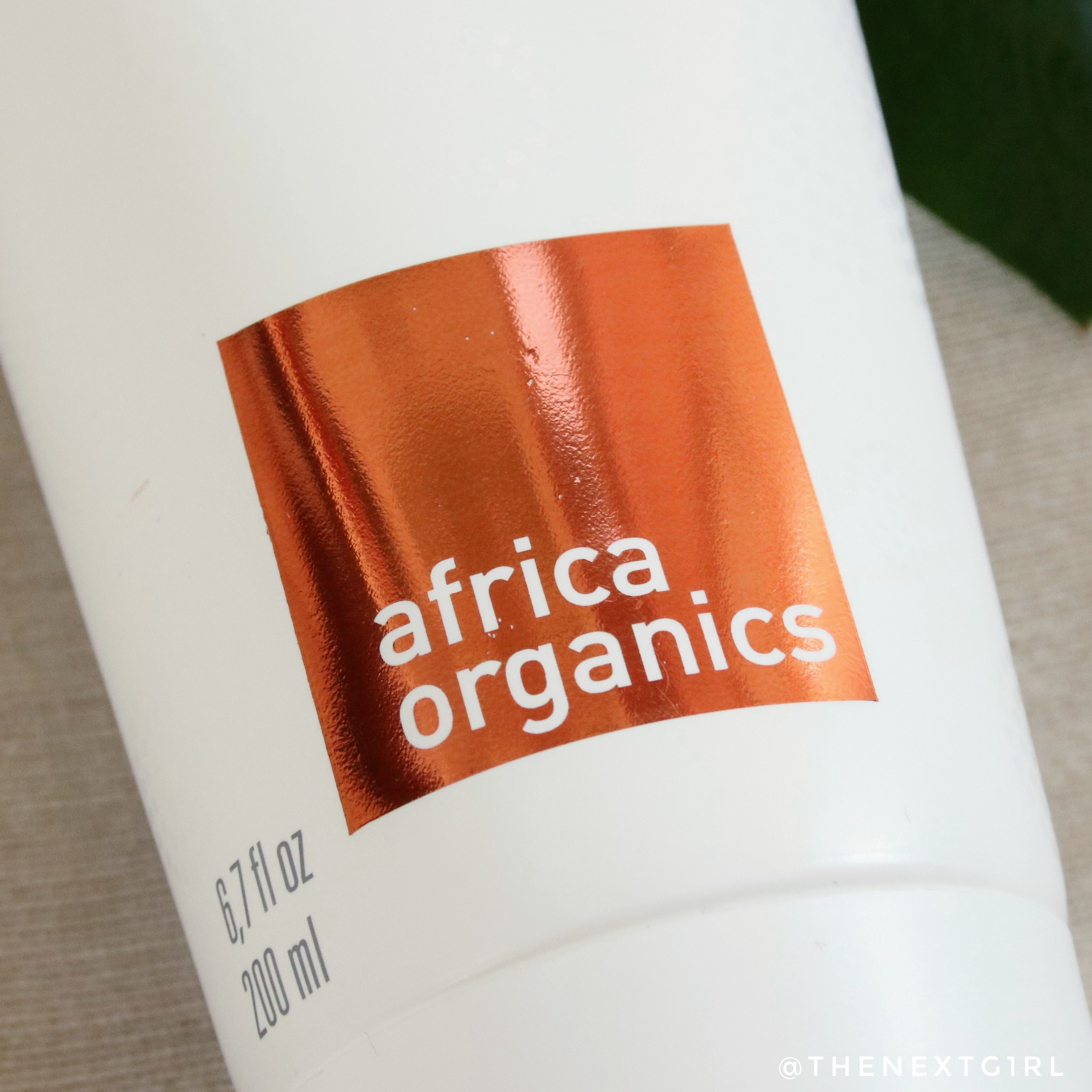Africa Organics logo op verpakking