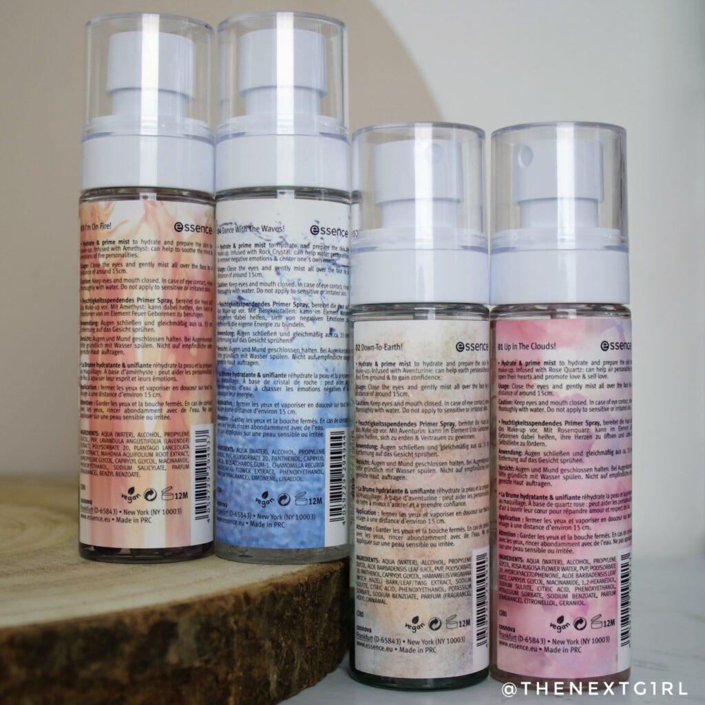 Informatie vegan hydrate & prime mists