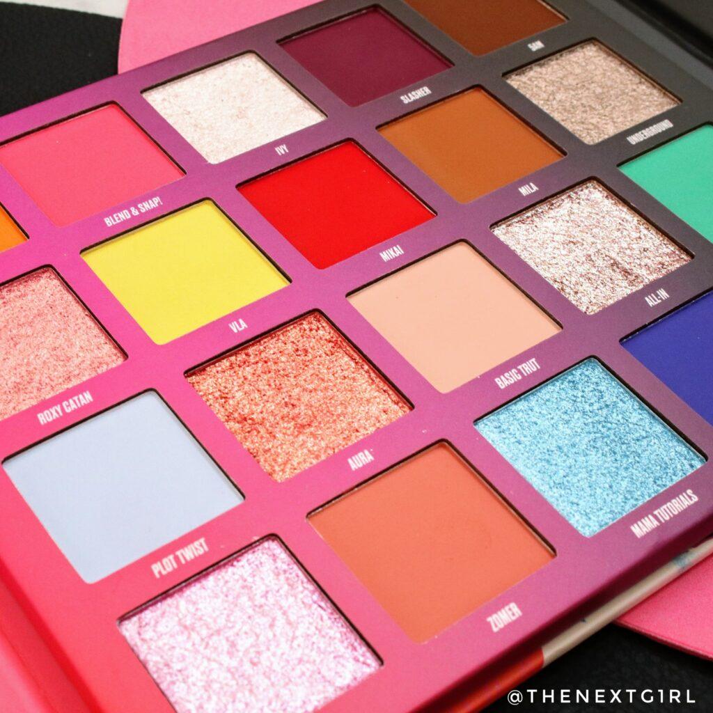 NikkieTutorials x Beauty bay pressed pigment palette close-up