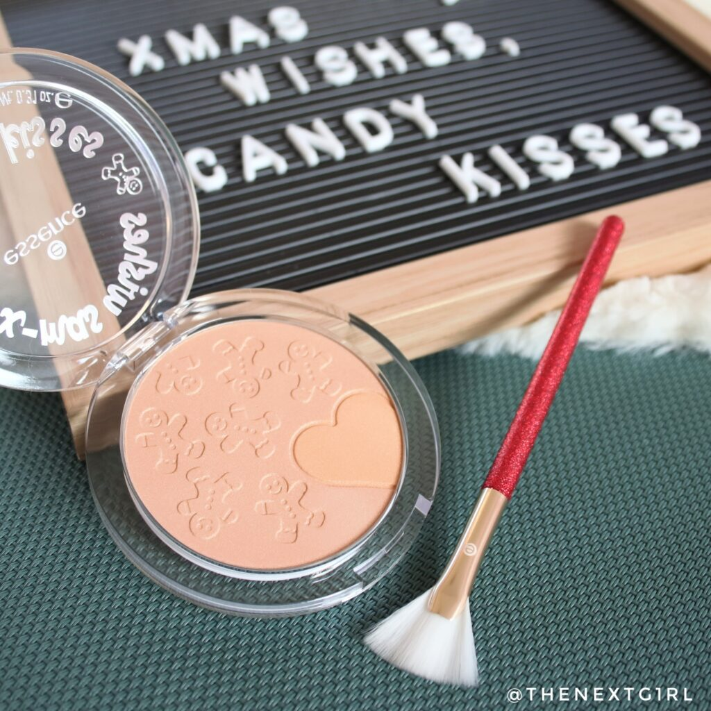 Essence LE xmas wishes candy kisses highlighter + kwast