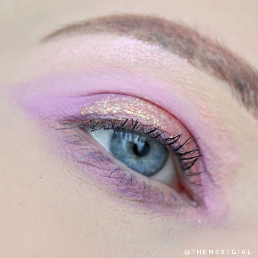 Ooglook met SHEGLAM Rhapsody oogschaduw, liquid eyeshadow en mascara