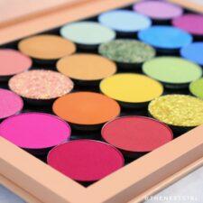 Felle regenboog kleurtjes oogschaduws