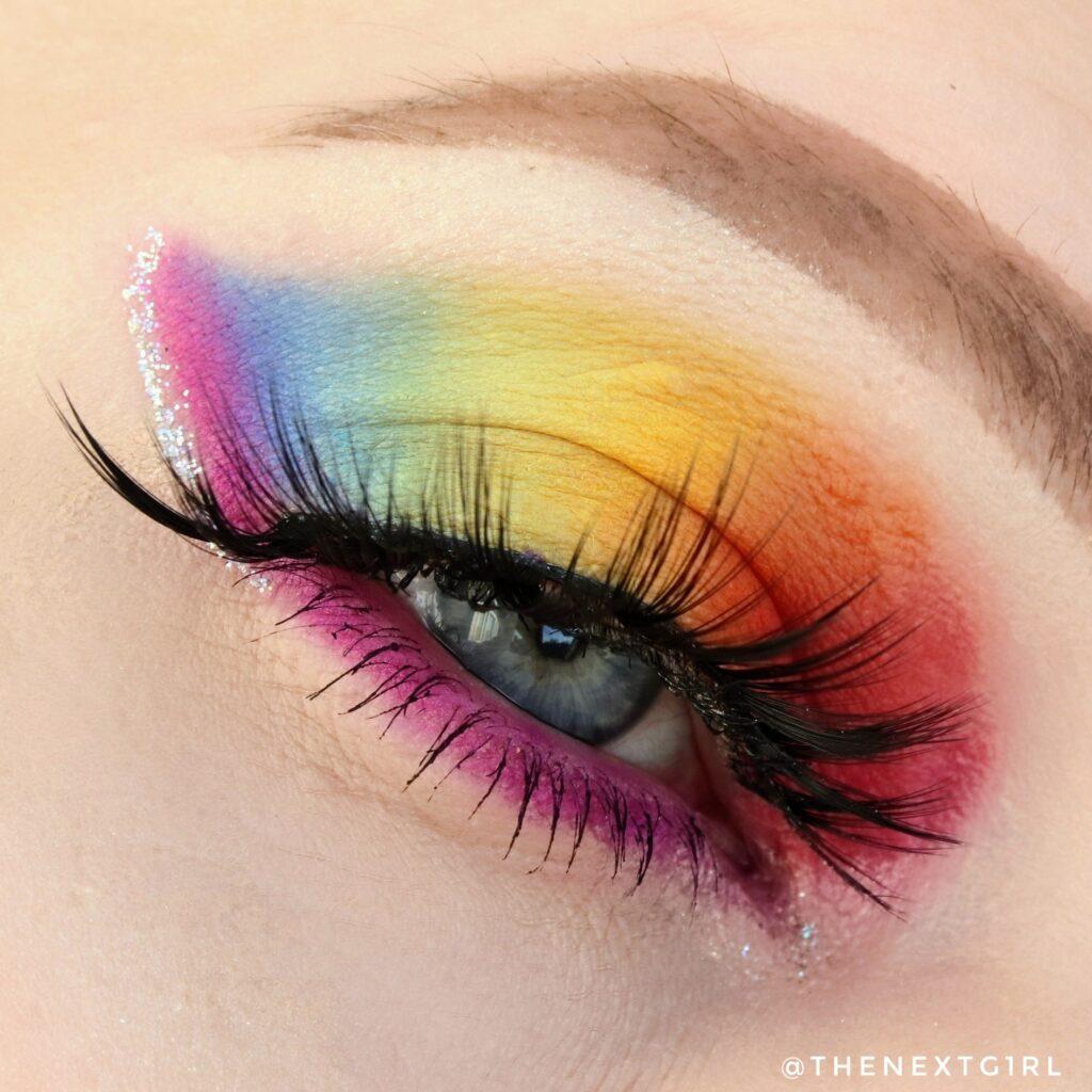 Regenboog ooglook met CP She's a Rainbow