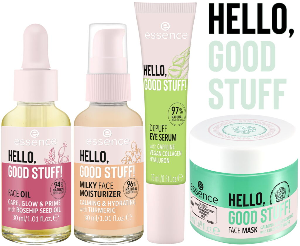 Essence lente zomer 2021 hello good stuff moisturizer serum masker