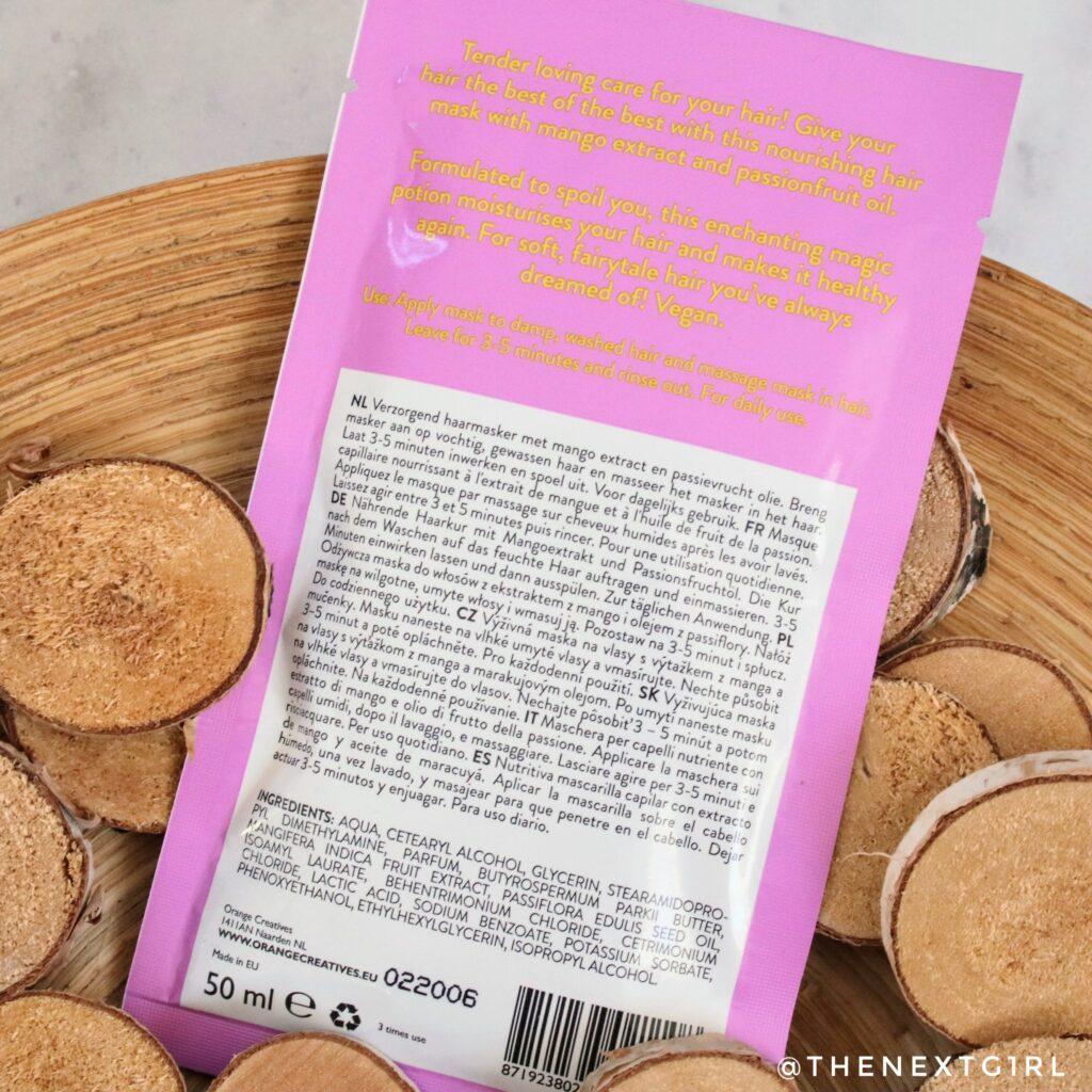 Action haarmasker mango ingredienten en gebruiksadvies