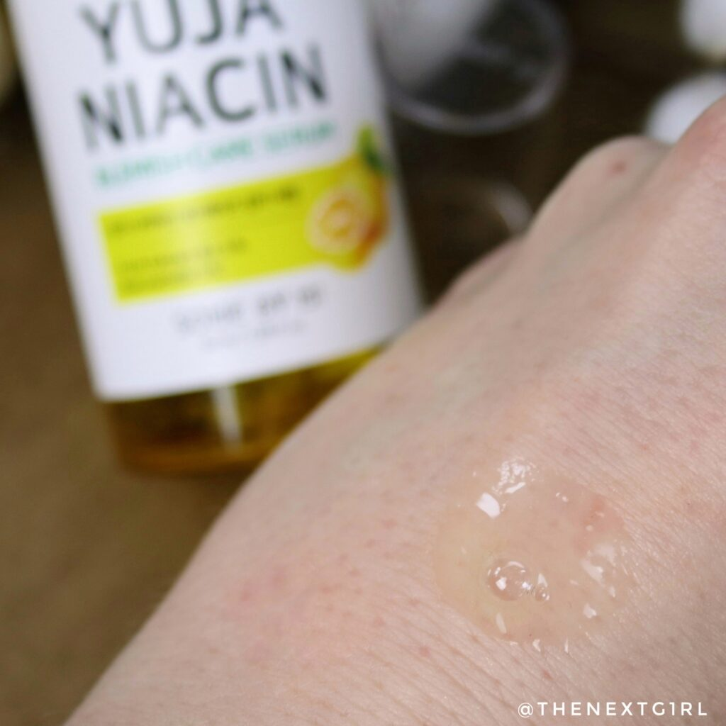 Textuur niacinamide serum K-Beauty