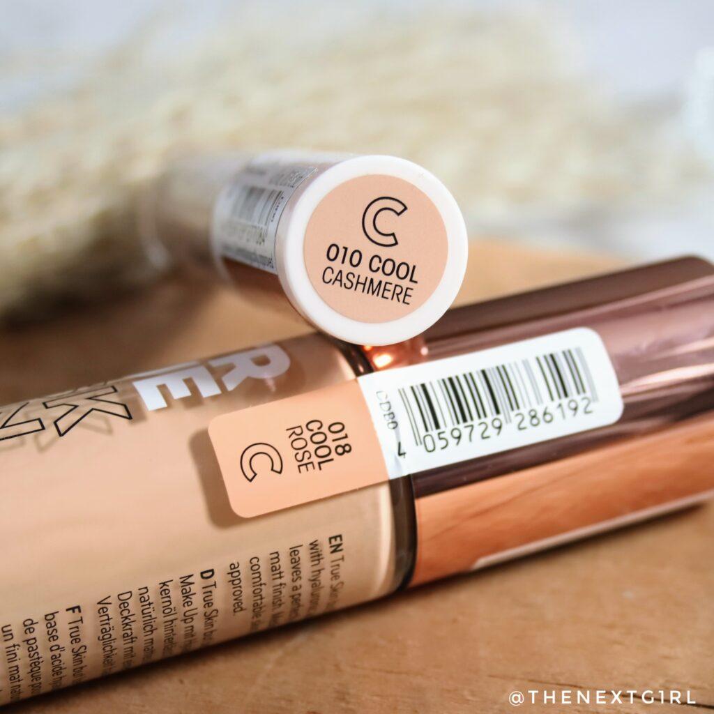 True Skin foundation concealer kleurnamen