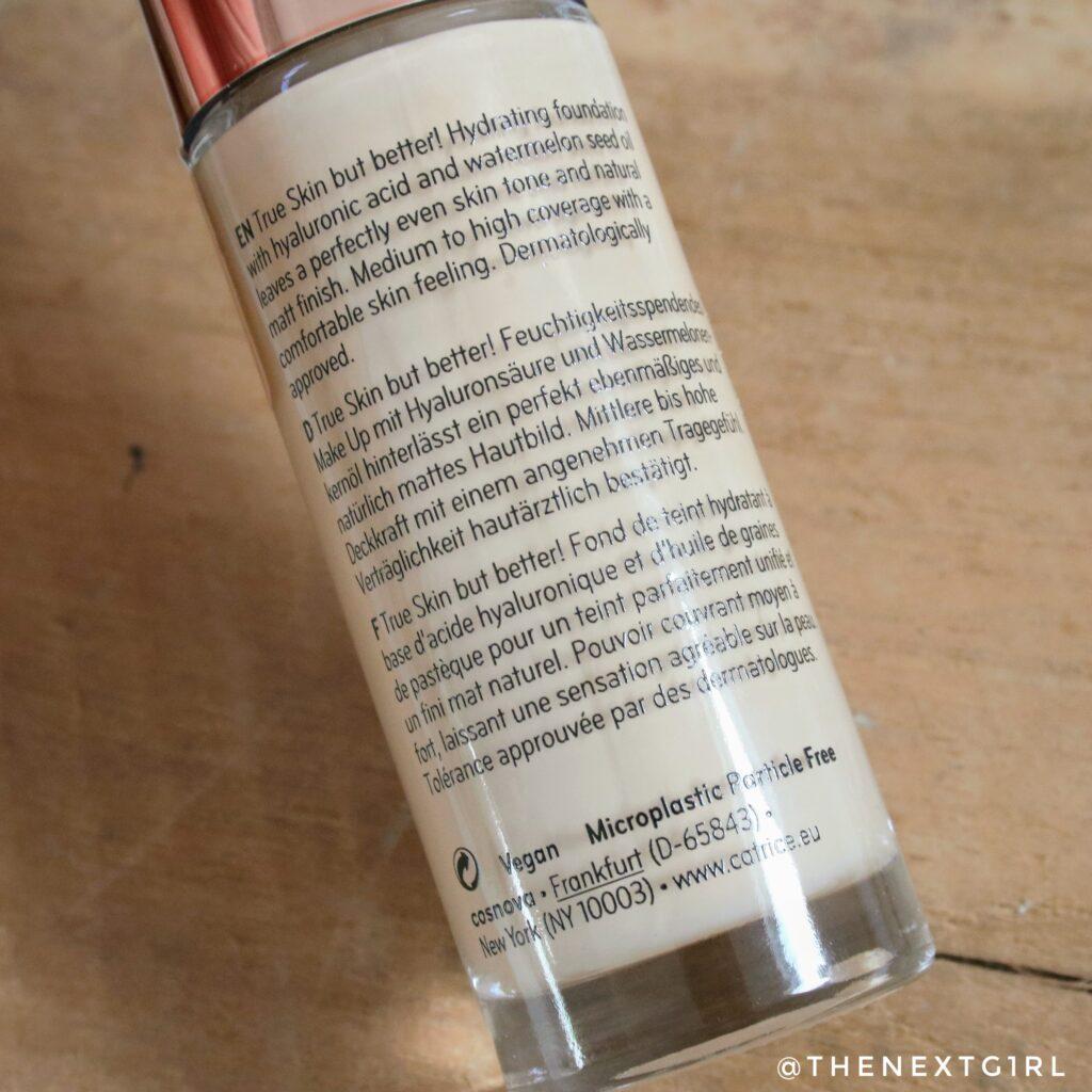 Beschrijving Catrice True Skin foundation