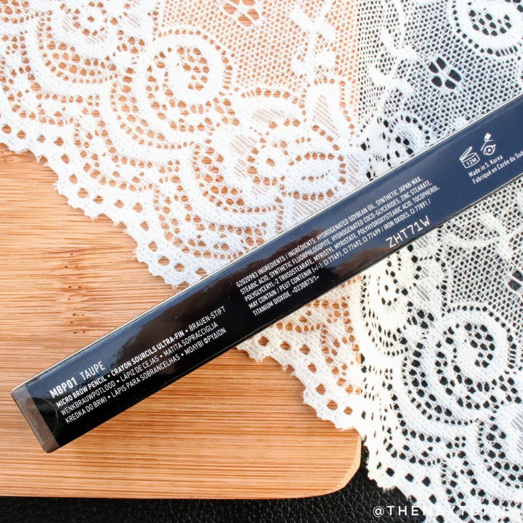 NYX Micro Brow Pencil informatie ingredienten