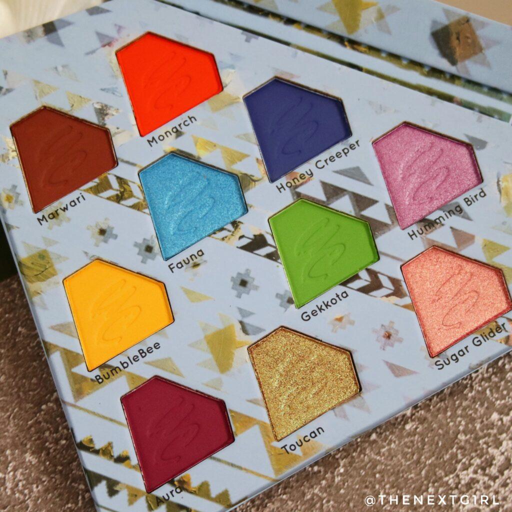 Kleuren Kleurrijk diamantvormig oogschaduwpalette