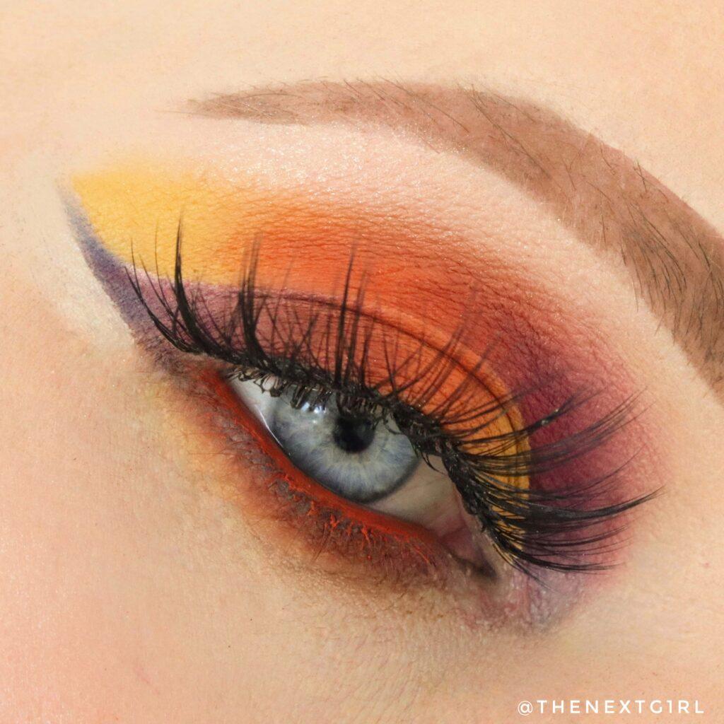 Kleurrijke look Unicorn Cosmetics oogschaduwpalette