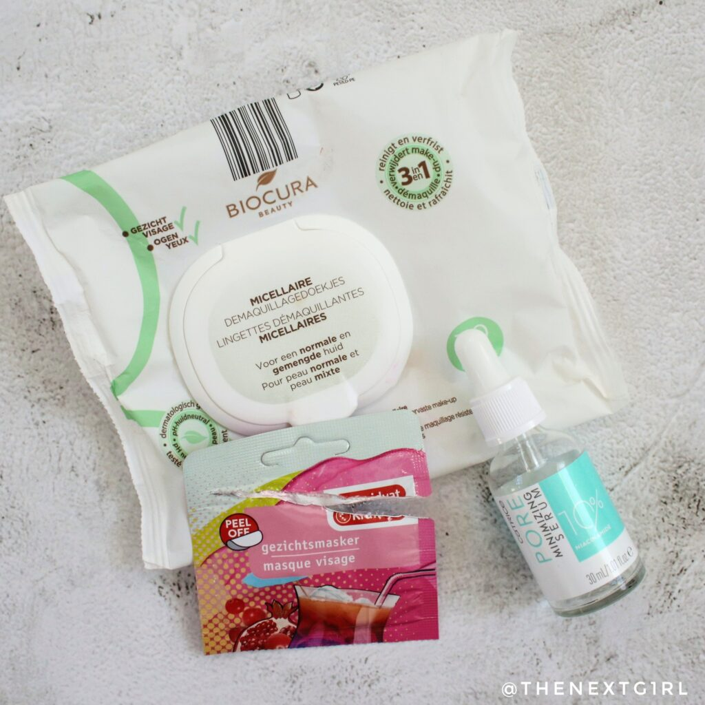 Empties gezichtsverzorging masker serum doekjes