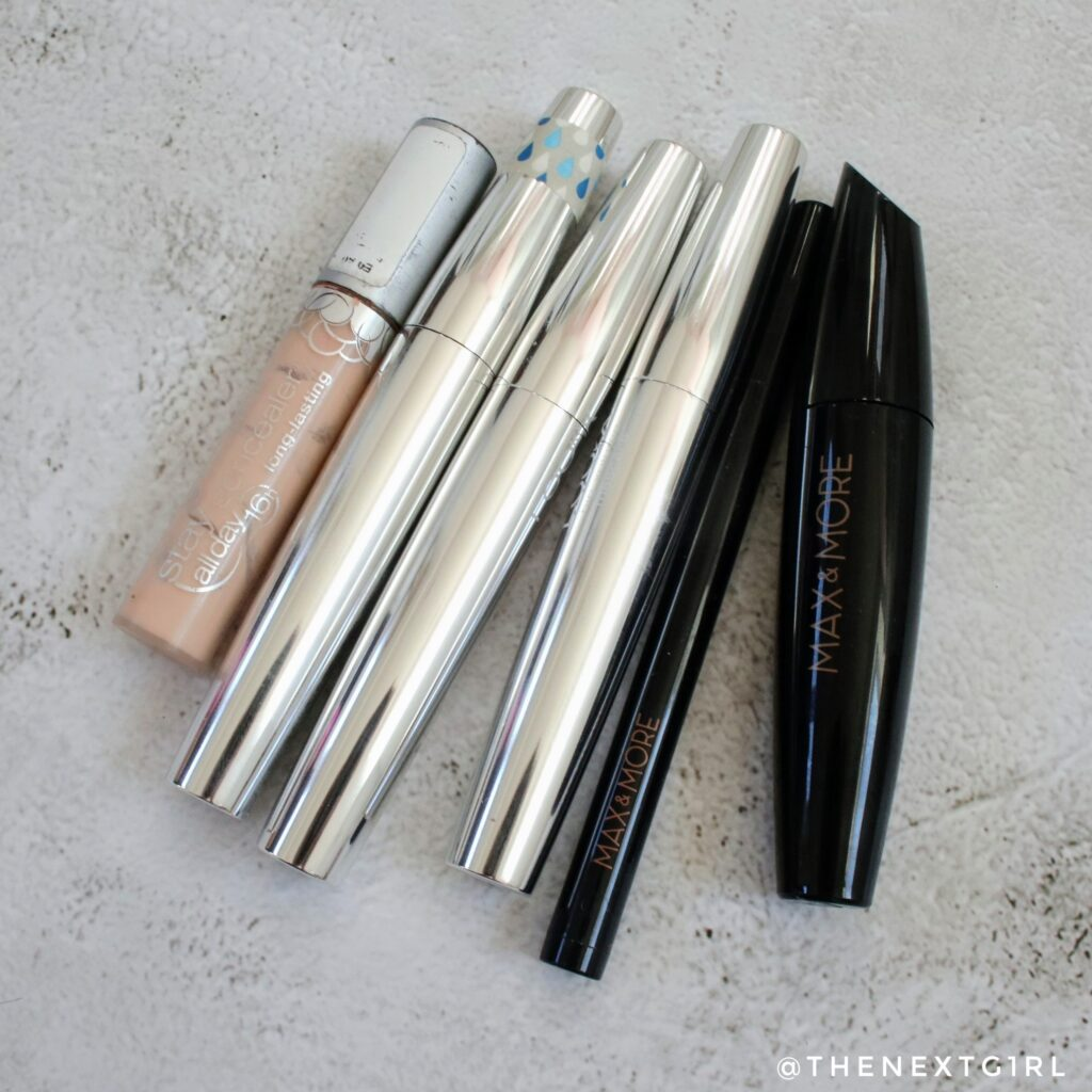 Empties januari 2021 make-up mascara eyeliner concealer