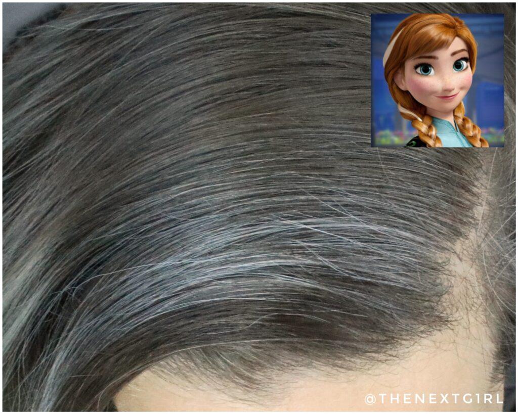 Anna Frozen haarlok grijs