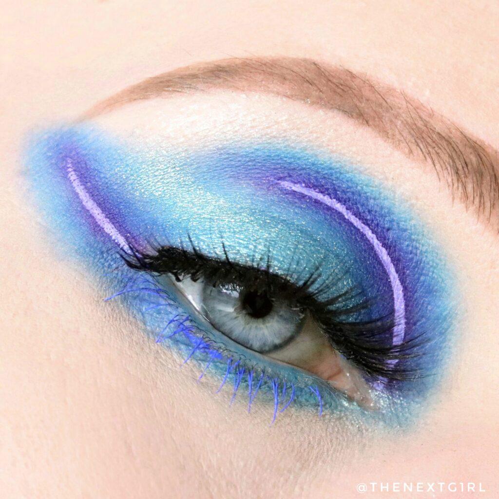 Blauw paarse ooglook Stacey Marie Mua
