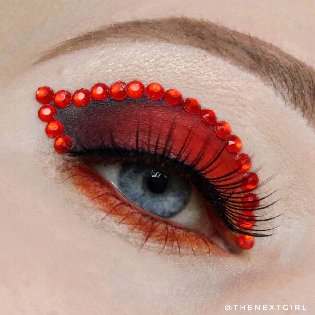 Rood met zwarte ooglook BPerfect Cosmetics
