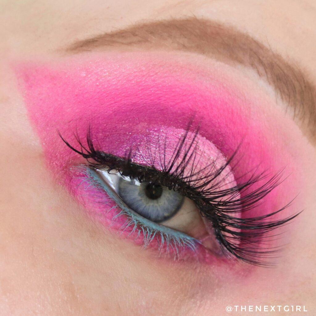 Roze ooglook met BPerfect Love Tahiti palette