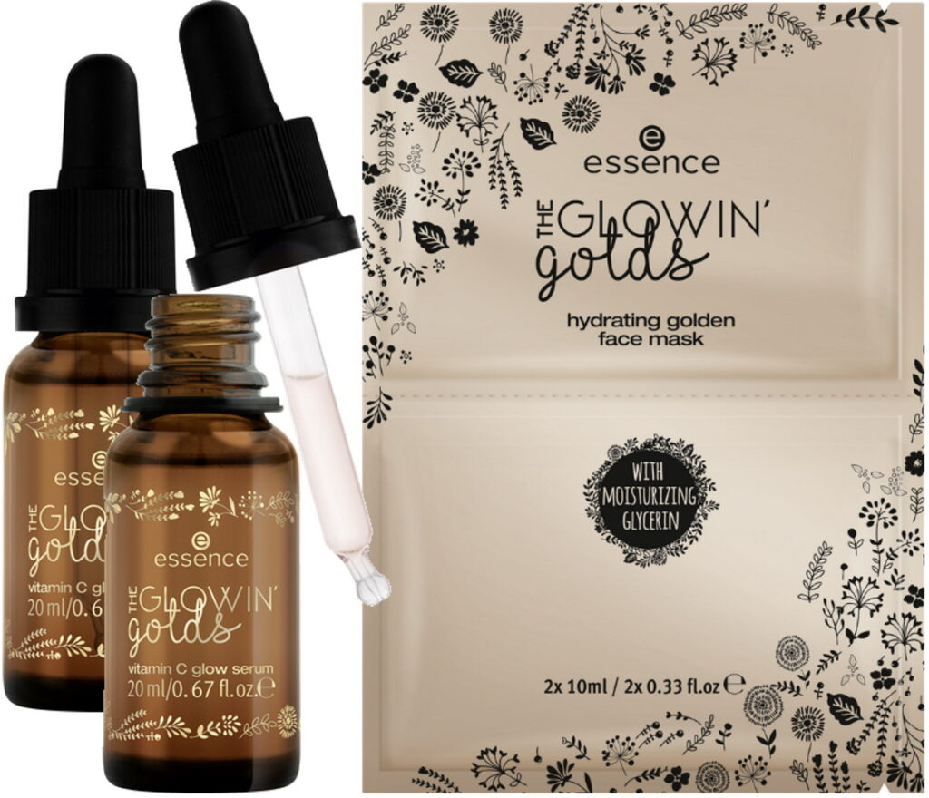 Essence Glowin Golds masker en serum