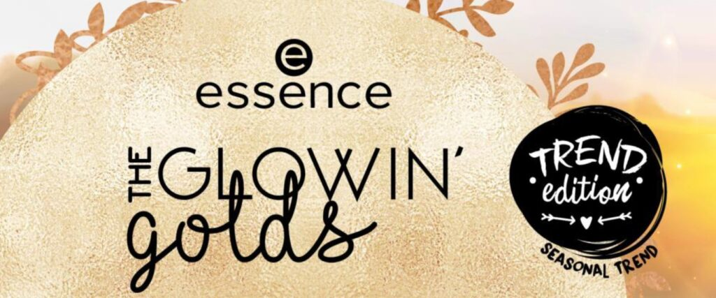 Essence voorjaar 2021 The Glowin' Golds banner
