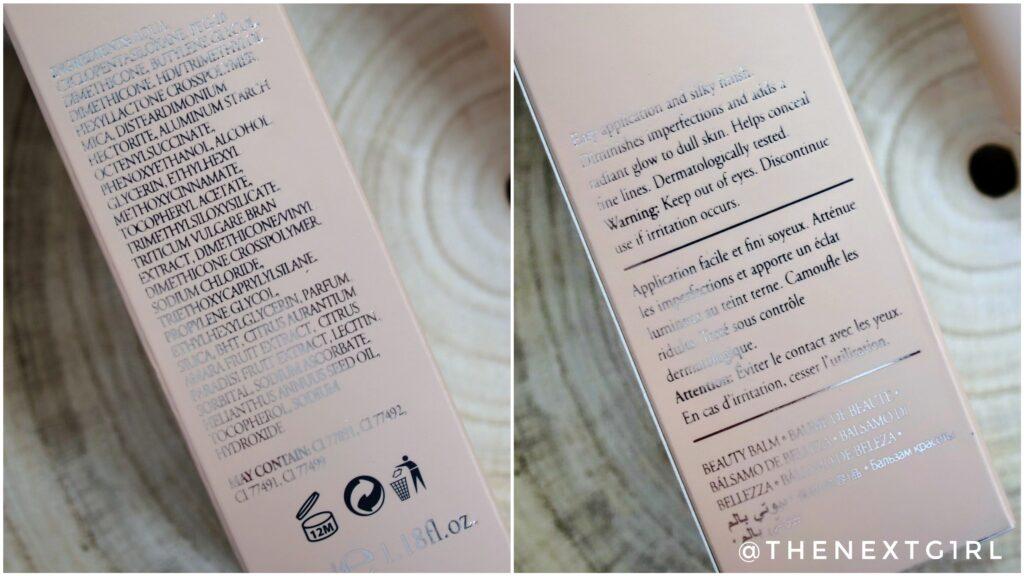 NOTE BB Cream ingredienten en informatie