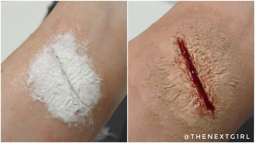 Liquid Latex wond close-up