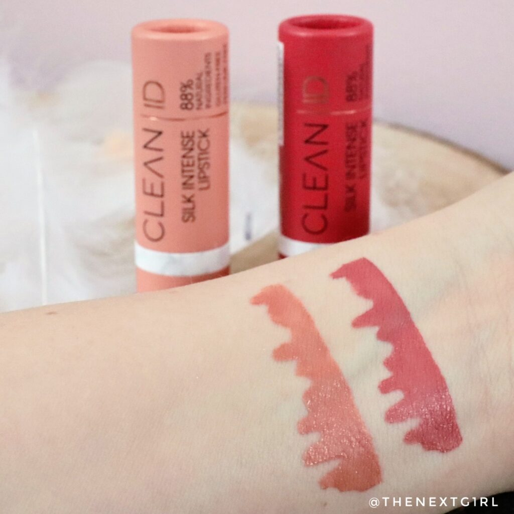 Swatches Catrice Clean ID lipsticks