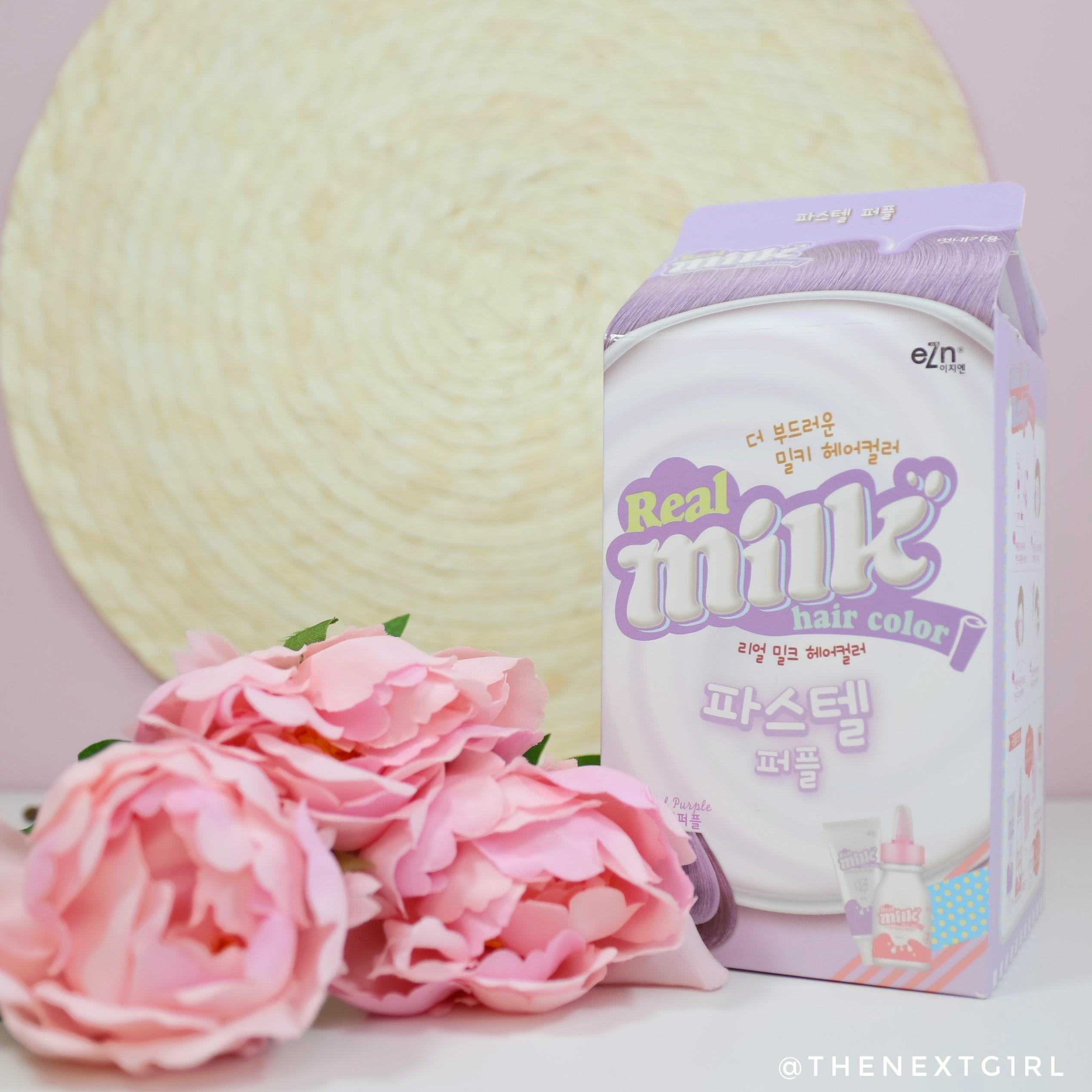 Review: eZn Real Milk Hair Color pastel purple