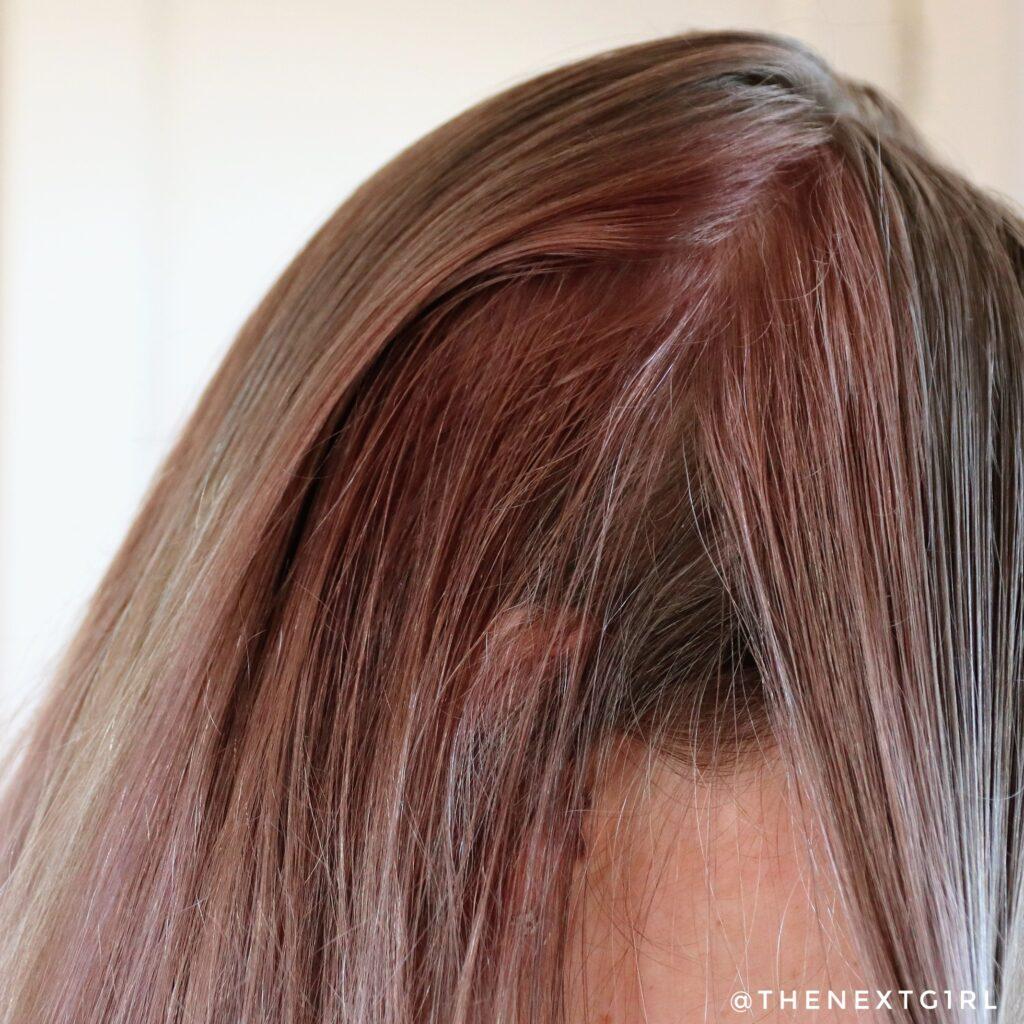 Resultaat eZn Real Milk Hair Color pastel purple op natuurlijk lichtbruin haar