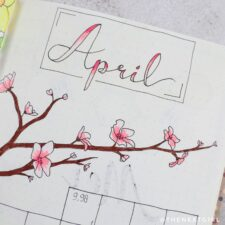 April monthly spread bullet journal