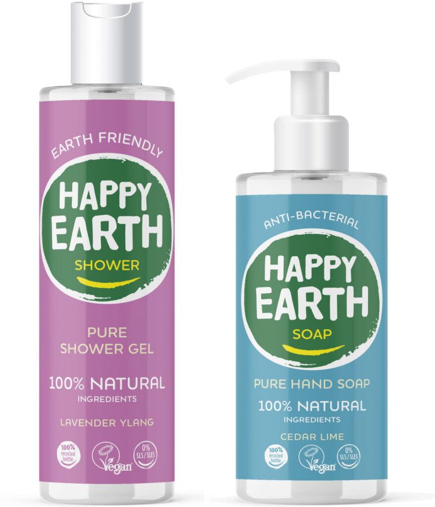 Happy Earth douchegel en handzeep