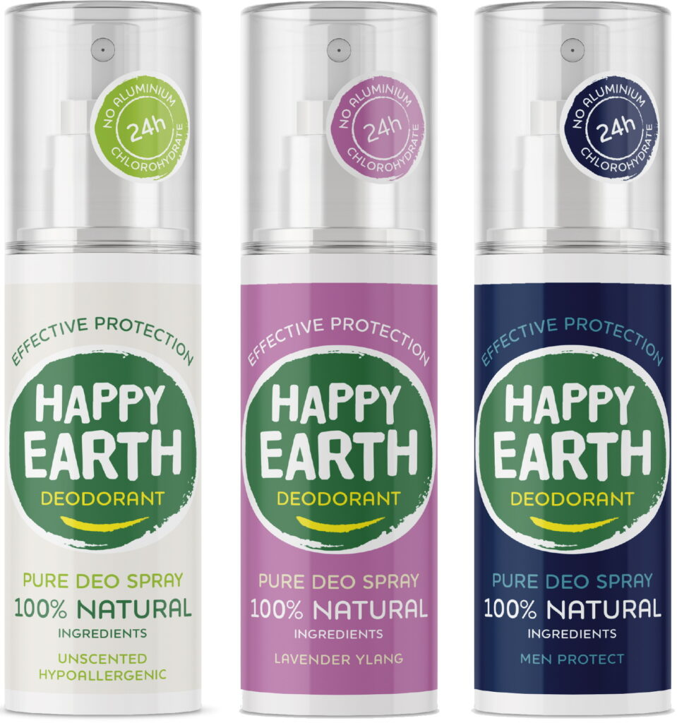 Happy Earth natuurlijke deodorant spray