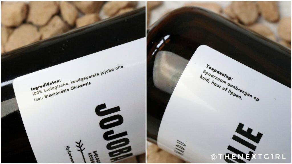 Ingrediënten toepassing jojoba olie